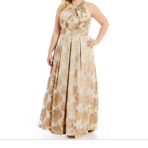 Eliza J Dresses   Gold Champagne Ball Gown Size 20   Poshmark